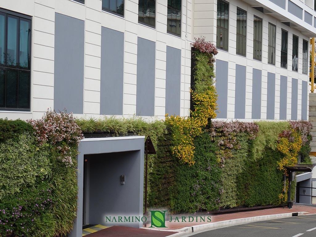 Portions of green walls in Monaco