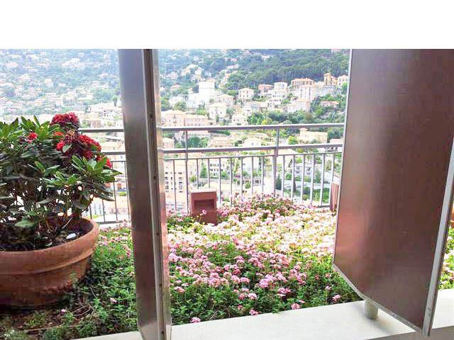 Entretien de plantes sur un balcon