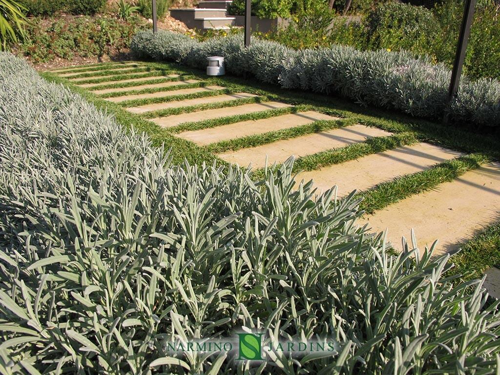 Jardin dans une villa à Villefranche