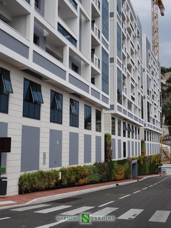 R alisation de murs v g taux monaco narmino jardins - Immeuble vegetal ...
