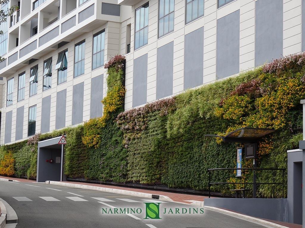 Un mur végétal à Monaco