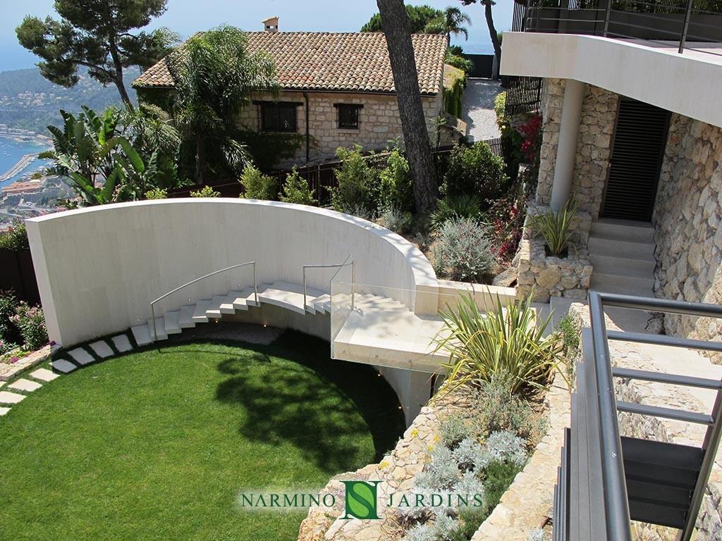 Une villa proche de Villefranche sur Mer dont nous avons réalisé les jardins