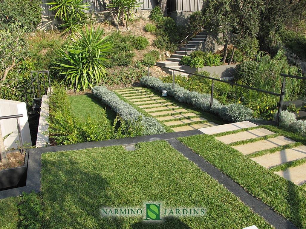 Une villa dont nous avons réalisé les jardins