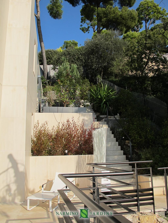 Travaux d'aménagement paysages dans une villa proche de Saint Jean Cap Ferrat par Narmino Jardins