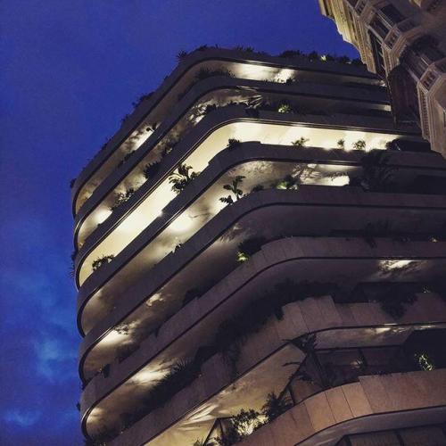 Nos jardinières dans un nouvel immeuble de luxe à Monaco