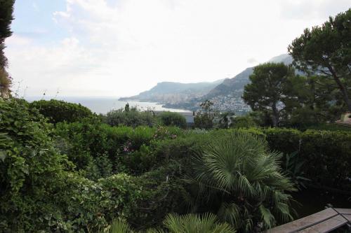 Une vue splendide vers Monaco depuis les jardins de cette villa