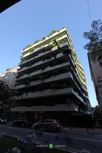 Un immeuble très réussi dont les espaces verts sont réputés