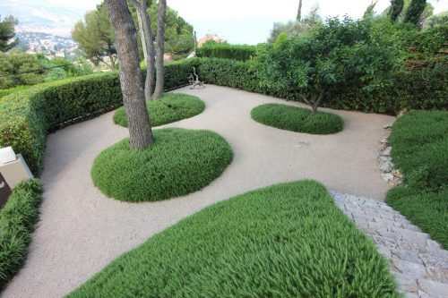 the garden of a villa in roquebrune cap martin